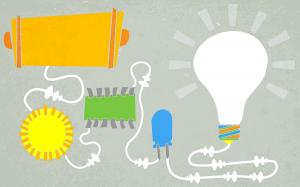 Free Prezi Template - lightbulb ideas - green