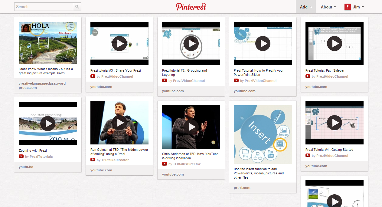 Learn Prezi with our Pinterest board