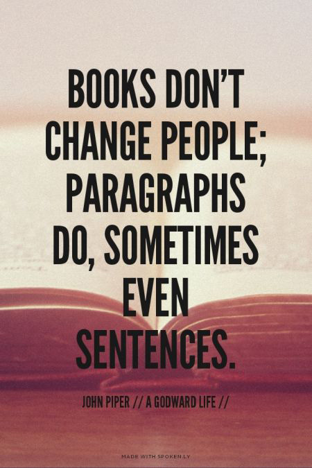 books dont change people