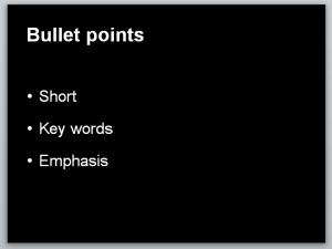 bullet points good