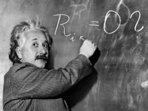 Albert Einstein Explaining difficult concepts