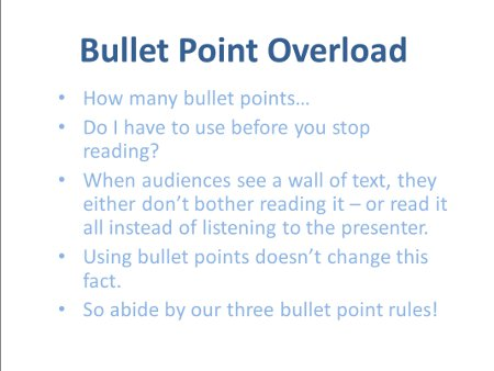 how to use bullet points in presentation slides